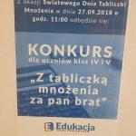Plakat - konkurs matematyczny SP Edukacja Wrocław