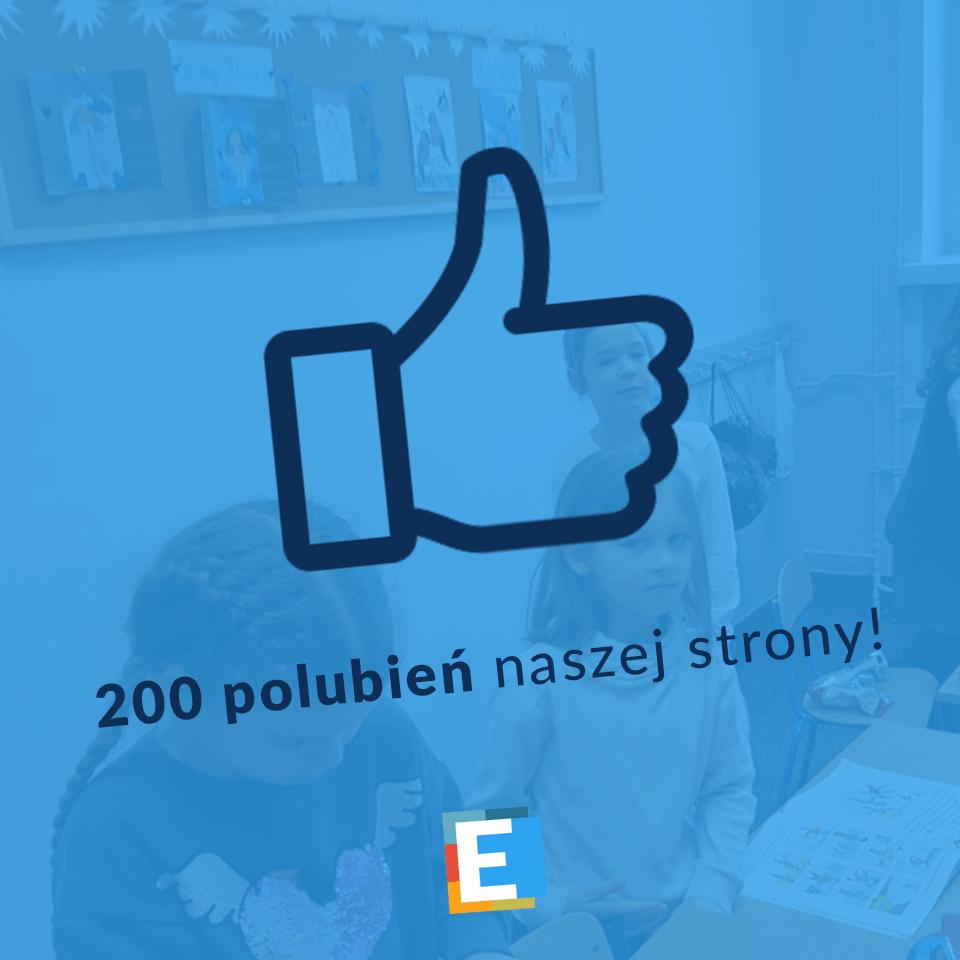 200 polubień strony Szkoła Podstawowa Edukacja Wrocław