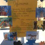 Plakat informujący o zbiórce w szkole podstawowej