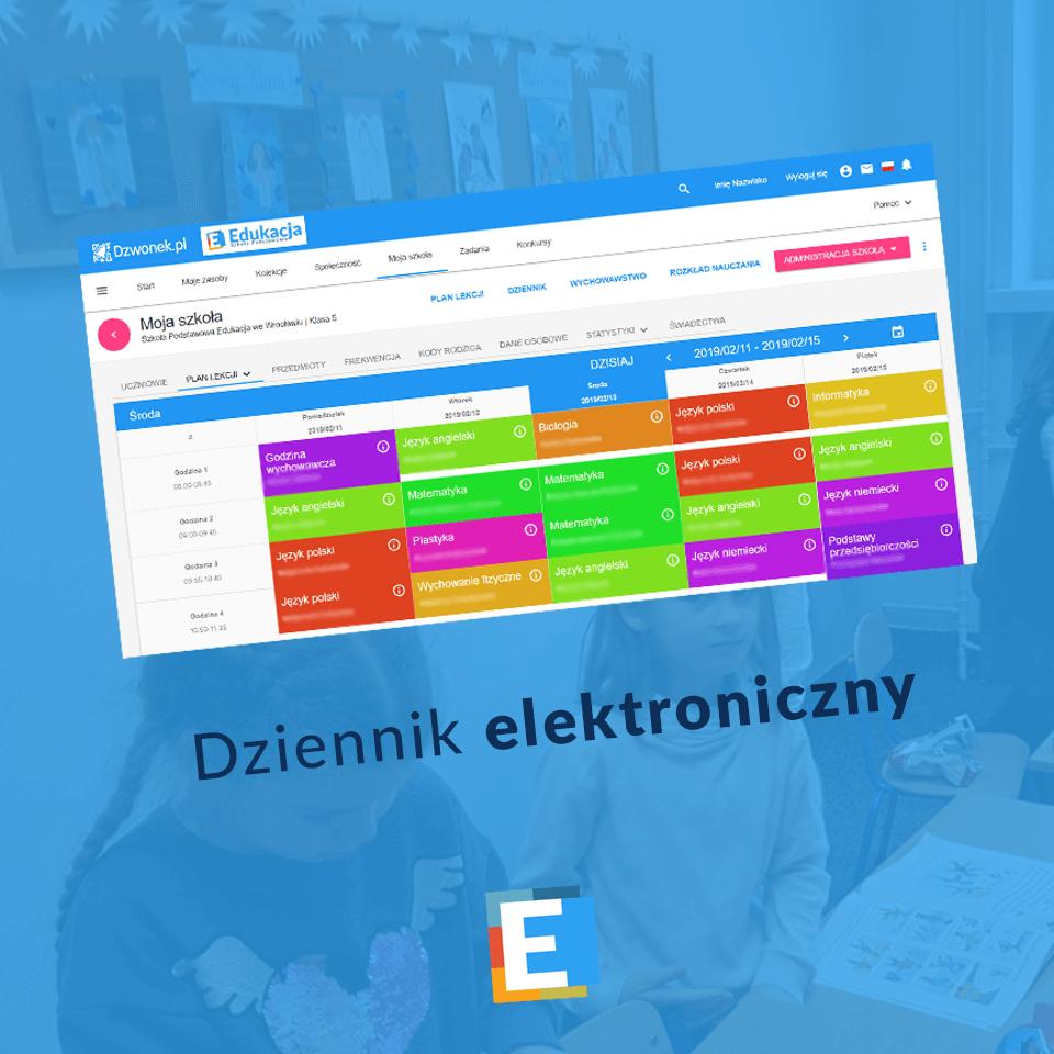 """Dziennik elektroniczny Szkoły Podstawowej """"Edukacja"""" we Wrocławiu"""