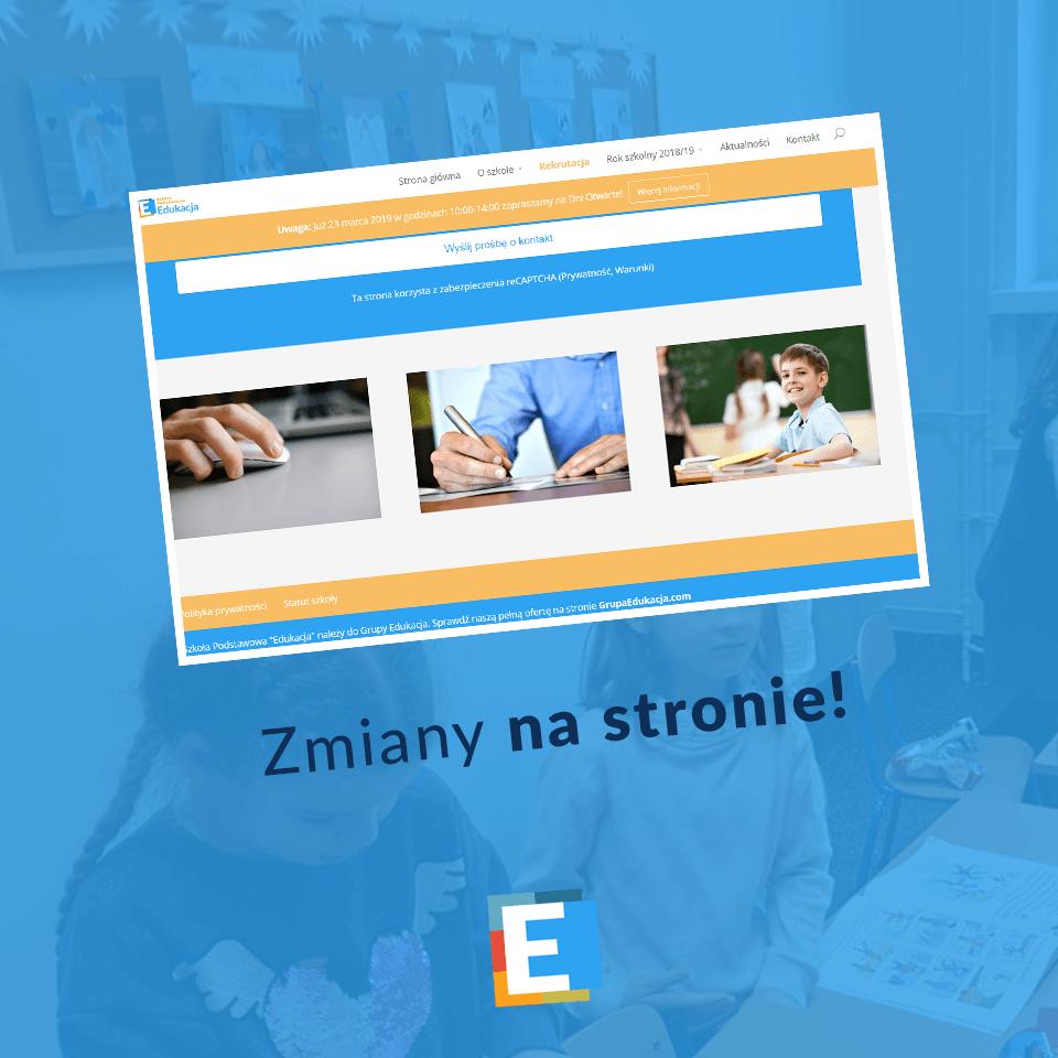 Zmiany na stronie szkoły podstawowej Edukacja we Wrocławiu