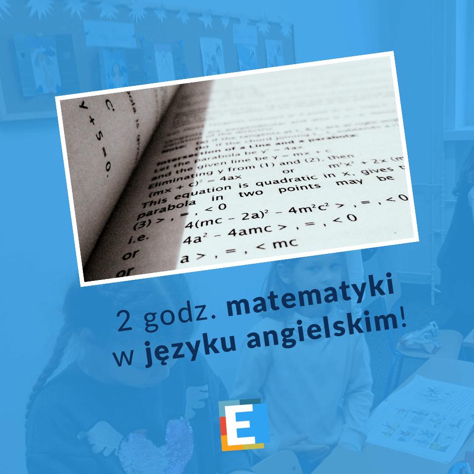 2 godziny matematyki w języku angielskim w SP Edukacja we Wrocławiu