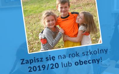 Zapisz się na rok szkolny 2019/20!