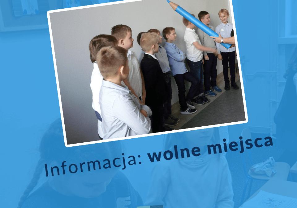 Informacja – dostępne miejsca