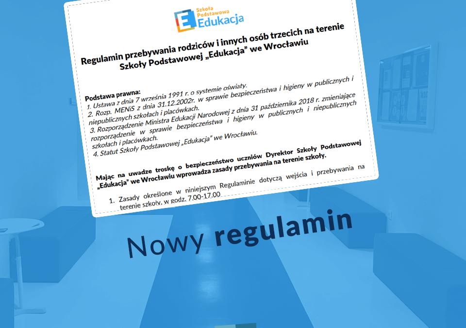 Nowy regulamin