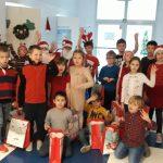 Spotkanie uczniów z Mikołajem