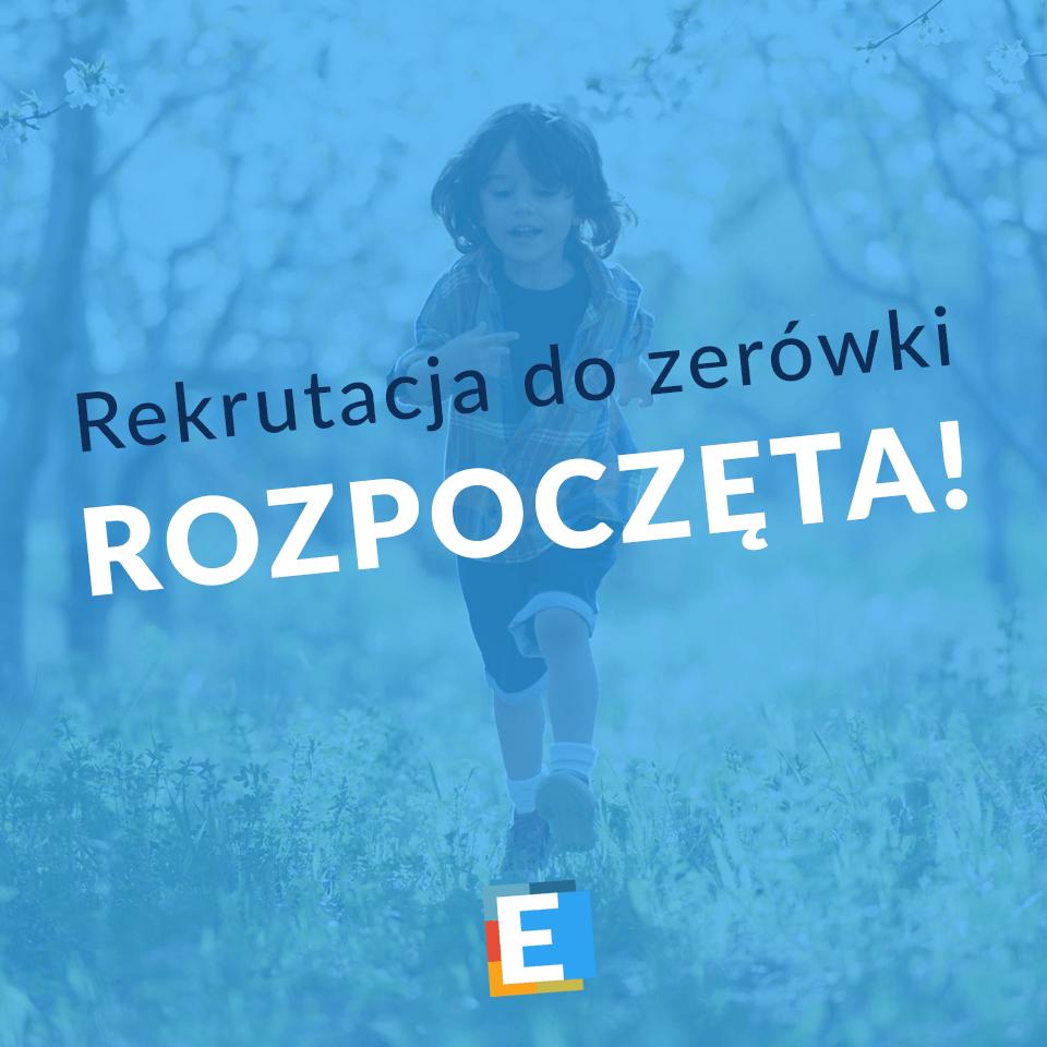 Rekrutacja do zerówki rok szkolny 2020/21