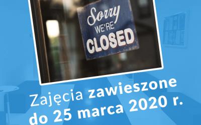 Zajęcia zawieszone do 25 marca