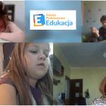 Uczniowie podczas lekcji online