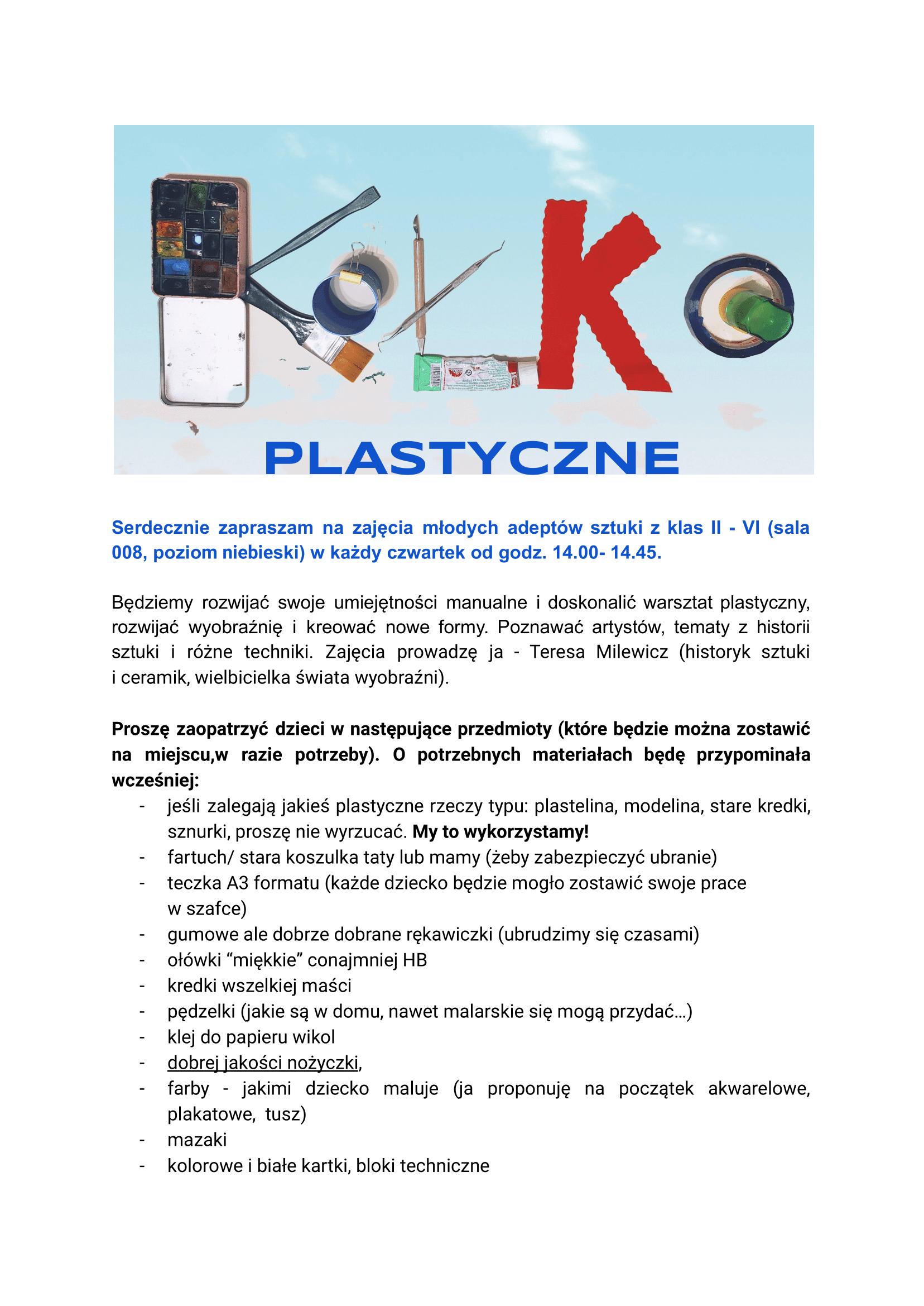 Kółko plastyczne - plakat