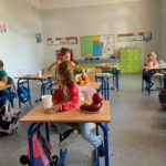 Uczniowie SP Edukacja we Wrocławiu podczas zajęć
